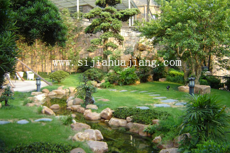 充满意境的中式庭院——棕榈泉花园图片