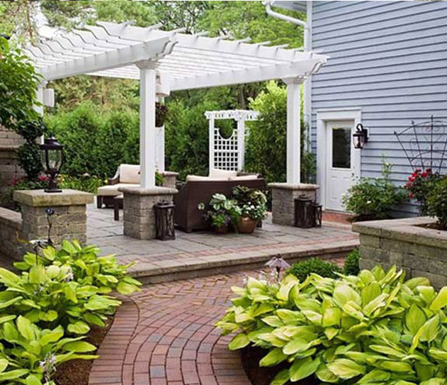 欧式庭院风格-重庆别墅花园设计施工